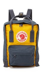 Fjall Raven Kanken Mini Backpack Navy Warm Yellow