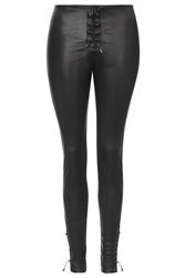 Faux Leather Trousers By Wyldr Black