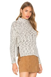 Michael Stars Cabled Turtleneck Pullover Gray