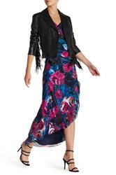 Haute Hippie Cowl Neck Print Maxi Dress Multi
