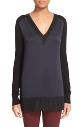 Rag And Bone Women's 'Vivienne' Colorblock V Neck Tunic Navy