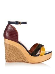Lanvin Calf Hair And Leather Espadrille Wedges