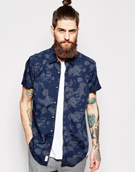 Timberland Shirt With Floral Print Short Sleeves River