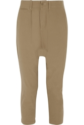 Nlst Cropped Cotton Twill Tapered Pants