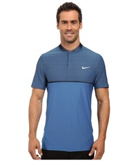 Nike Momentum Fly Swing Knit Block Alpha Light Photo Blue Black Reflect Black Men's Short Sleeve Pullover