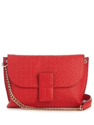 Loewe Avenue Leather Cross Body Bag Red