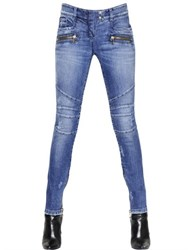 Balmain Stretch Cotton Denim Jeans