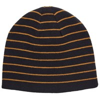 John Lewis Kin By Reversible Stripe Beanie One Size Navy