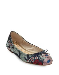 Sam Edelman Felicia Embroidered Fabric Ballet Flats Grey Multi