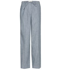 By Malene Birger Passia Linen Blend Trousers Blue