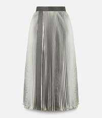 Christopher Kane Pleated Skirt With Crystal Grey