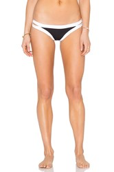 Seafolly Block Party Brazilian Pant Black And White