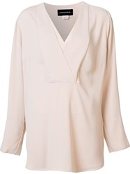 By Malene Birger 'Triply' Blouse Nude And Neutrals