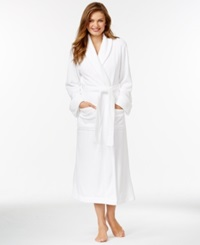 Charter Club Supersoft Long Solid Robe Bright White