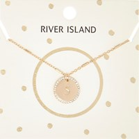 River Island Womens Gold Tone S Initial Necklace