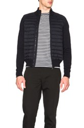 Moncler Maglia Tricot Cardigan Jacket In Blue