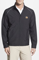 Men's Big And Tall Cutter And Buck 'Cincinnati Bengals Beacon' Weathertec Wind And Water Resistant Jacket