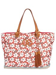 Dsquared Floral Printed Cotton Canvas Tote