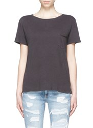 Rag And Bone 'X Boyfriend' Chest Pocket Pima Cotton T Shirt Black
