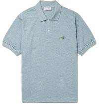 Lacoste Melange Cotton Pique Polo Shirt Light Blue