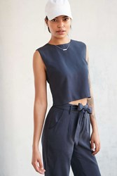 Native Youth Boat House Cropped Top Navy
