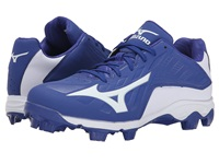 Mizuno 9 Spike Advanced Franchise 8 Low Royal White Men's Cleated Shoes Blue