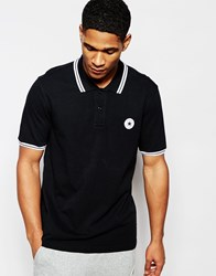 Converse Patch Logo Polo Black