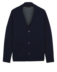 Jaeger Double Faced Knitted Blazer Navy