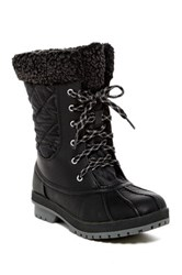 London Fog Swanley Faux Shearling Cold Weather Boot Black