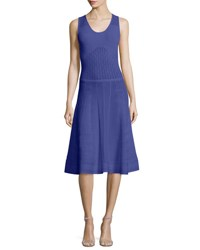 Prabal Gurung Sleeveless Flared Knit Dress Blue