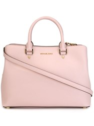 Michael Michael Kors Large 'Savannah' Satchel Pink And Purple