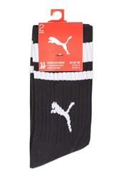 Puma 2 Pack Socks By Heritage Black