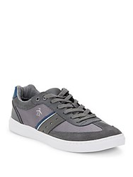 Original Penguin Lace Up Leather Sneakers Pewter
