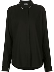 Anthony Vaccarello Studded Collar Shirt Black