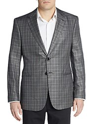 Giorgio Armani Regular Fit Silk Wool And Cashmere Two Button Sportcoat Black