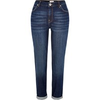 River Island Womens Dark Blue Wash Ashley Boyfriend Jeans