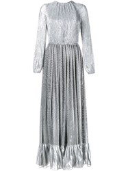 Adam By Adam Lippes Metallic Pleated Gown