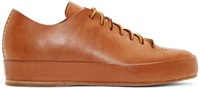 Feit Brown Leather Low Top Sneakers