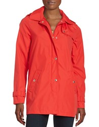 Weatherproof Hooded A Line Jacket Fiery Red