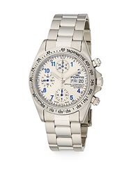 Fortis Cosmonaut Stainless Steel Chronograph Watch Silver