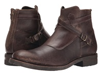 Frye Stone Cross Strap Espresso Polished Stonewash Men's Pull On Boots Brown