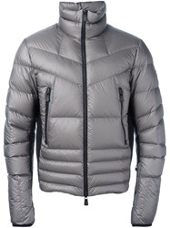 Moncler Grenoble Funnel Neck Padded Jacket Grey