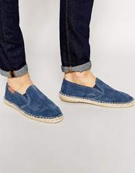 Bronx Slip On Espadrilles In Black Black