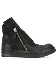 Cinzia Araia Distressed Zip Boots Black