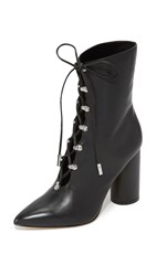 Sigerson Morrison Knight Lace Up Booties Black