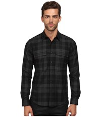 Theory Mikon.Elmsford Button Up Black Men's Sweater