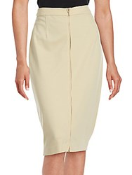 Magaschoni Zip Front Pencil Skirt Midnight