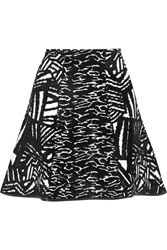 Issa Winnie Fluted Stretch Jacquard Mini Skirt
