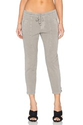 James Perse Cropped Ankle Split Pant Tan