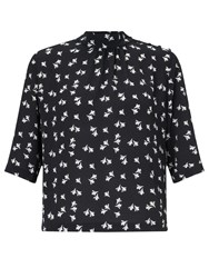Bzr Kerry Petal Print Top Midnight